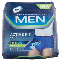 TENA MEN PANTS PLUS MEDIA 9PZ