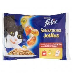 FELIX SENSATIONS JELLIES MANZO/POLLO 4X100GR